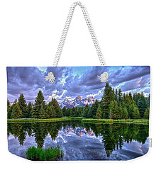 Alpenglow In The Tetons Weekender Tote Bag