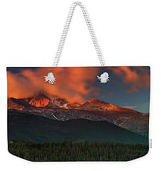 Alpenglow Sunrise Weekender Tote Bag