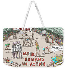 Alpha V. Beta Weekender Tote Bag