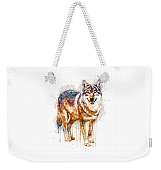 Alpha Wolf Weekender Tote Bag by Marian Voicu