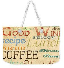 Alphabet Soup-a Weekender Tote Bag