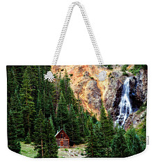 Alpine Cabin Weekender Tote Bag by Lana Trussell