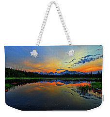 Weekender Tote Bag featuring the photograph Alpine Lake Glow by Scott Mahon