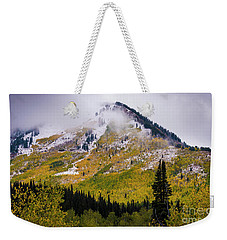 Weekender Tote Bag featuring the photograph Alpine Loop Autumn Storm - Wasatch Mountains  by Gary Whitton