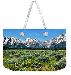 Alpine Meadow Teton Panorama II Weekender Tote Bag