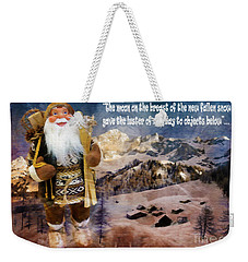 Alpine Santa Card 2015 Weekender Tote Bag