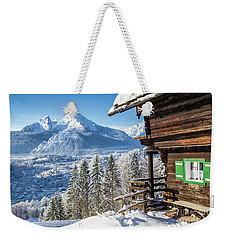 Alpine Winter Wonderland Weekender Tote Bag
