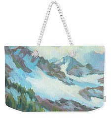 Weekender Tote Bag featuring the painting Alps In Switzerland by Diane McClary