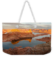 Weekender Tote Bag featuring the photograph Alstrom Point Panorama by Dustin LeFevre