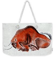 Altamira Prehistoric Bison At Rest Weekender Tote Bag