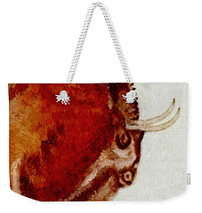 Altamira Prehistoric Bison Detail Weekender Tote Bag