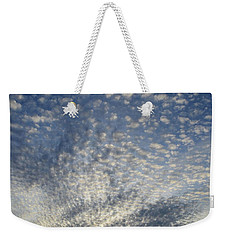 Weekender Tote Bag featuring the photograph Altocumulus Clouds  by Lyle Crump