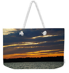 Alum Creek Sunset Weekender Tote Bag by Mike Murdock