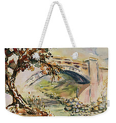 Weekender Tote Bag featuring the painting Alum Rock Park California Landscape 5 by Xueling Zou