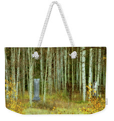 Weekender Tote Bag featuring the photograph Alvarado Cemetery 41 by Marie Leslie