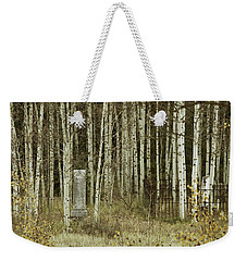 Weekender Tote Bag featuring the photograph Alvarado Cemetery 42 by Marie Leslie