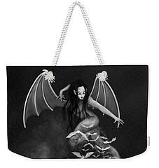 Always Awake - Black And White Fantasy Art Weekender Tote Bag