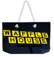 Always Open Waffle House Classic Signage Art  Weekender Tote Bag