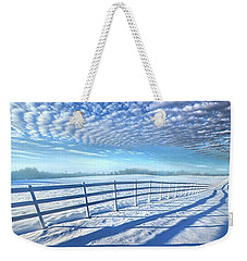 Weekender Tote Bag featuring the photograph Always Whiter On The Other Side Of The Fence by Phil Koch