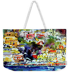Amalfi Coast Positano Summer Vibrations Weekender Tote Bag