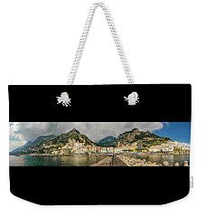 Weekender Tote Bag featuring the photograph Amalfi by Steven Sparks