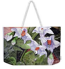 Amanda's Blue Potato Flowers Weekender Tote Bag
