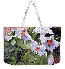 Amanda's Blue Potato Flowers Weekender Tote Bag