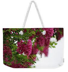 Amaranth Pink Flowering Locust Tree In Spring Rain Weekender Tote Bag