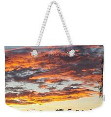 Clouds On Fire Weekender Tote Bag
