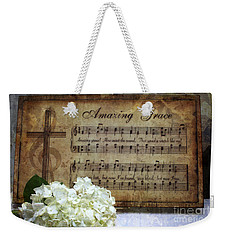 Weekender Tote Bag featuring the photograph Amazing Grace - Christian Home Art by Ella Kaye Dickey