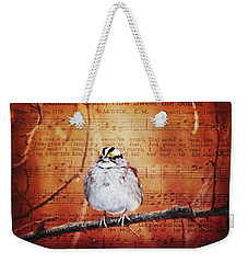 Amazing Grace Weekender Tote Bag by Trina Ansel