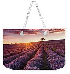 Amazing Lavender Field At Sunset Weekender Tote Bag