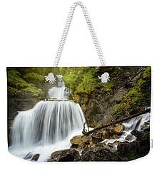 Amazing Mountain Waterfall Near Farchant Village At Garmisch Partenkirchen, Farchant, Bavaria, Germany. Weekender Tote Bag