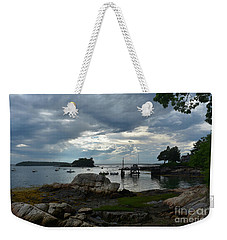 Amazing Silhouetted Views Of Little Bustin's Island Weekender Tote Bag
