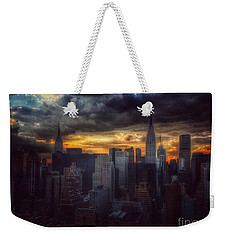 Amazing Skyline Of Manhattan - New York City Weekender Tote Bag by Miriam Danar