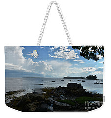 Amazing Views Of The Sky And Ocean From Bustin's Weekender Tote Bag
