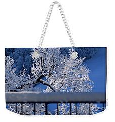 Weekender Tote Bag featuring the photograph Amazing - Winterwonderland In Switzerland by Susanne Van Hulst