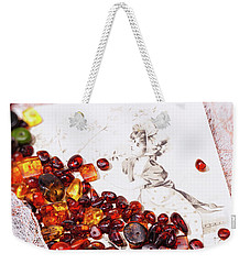 Weekender Tote Bag featuring the photograph Amber #8925 by Andrey  Godyaykin