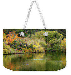 Amber Days Of Autumn Weekender Tote Bag