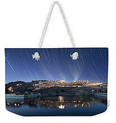 Weekender Tote Bag featuring the photograph Amber Fort After Sunset by Pradeep Raja Prints