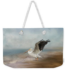 Weekender Tote Bag featuring the photograph Amble Along The Shore by Kim Hojnacki