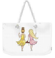 Amelia And Lillian Weekender Tote Bag