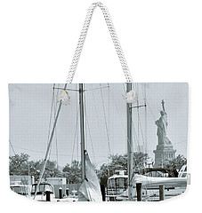 America II And The Statue Of Liberty Weekender Tote Bag by Sandy Taylor