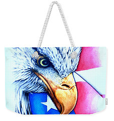 America Weekender Tote Bag by Victor Minca