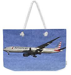 American Airlines Boeing 777 Aircraft Art Weekender Tote Bag