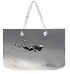American Airlines-landing At Dfw Airport Weekender Tote Bag by Douglas Barnard