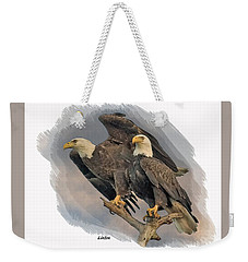 American Bald Eagle Pair Weekender Tote Bag