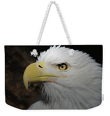 Weekender Tote Bag featuring the digital art American Bald Eagle Portrait 2 by Ernie Echols