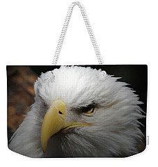 Weekender Tote Bag featuring the digital art American Bald Eagle Portrait 3 by Ernie Echols