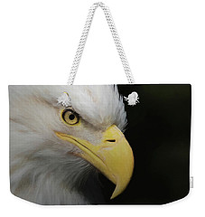 Weekender Tote Bag featuring the digital art American Bald Eagle Portrait 4 by Ernie Echols